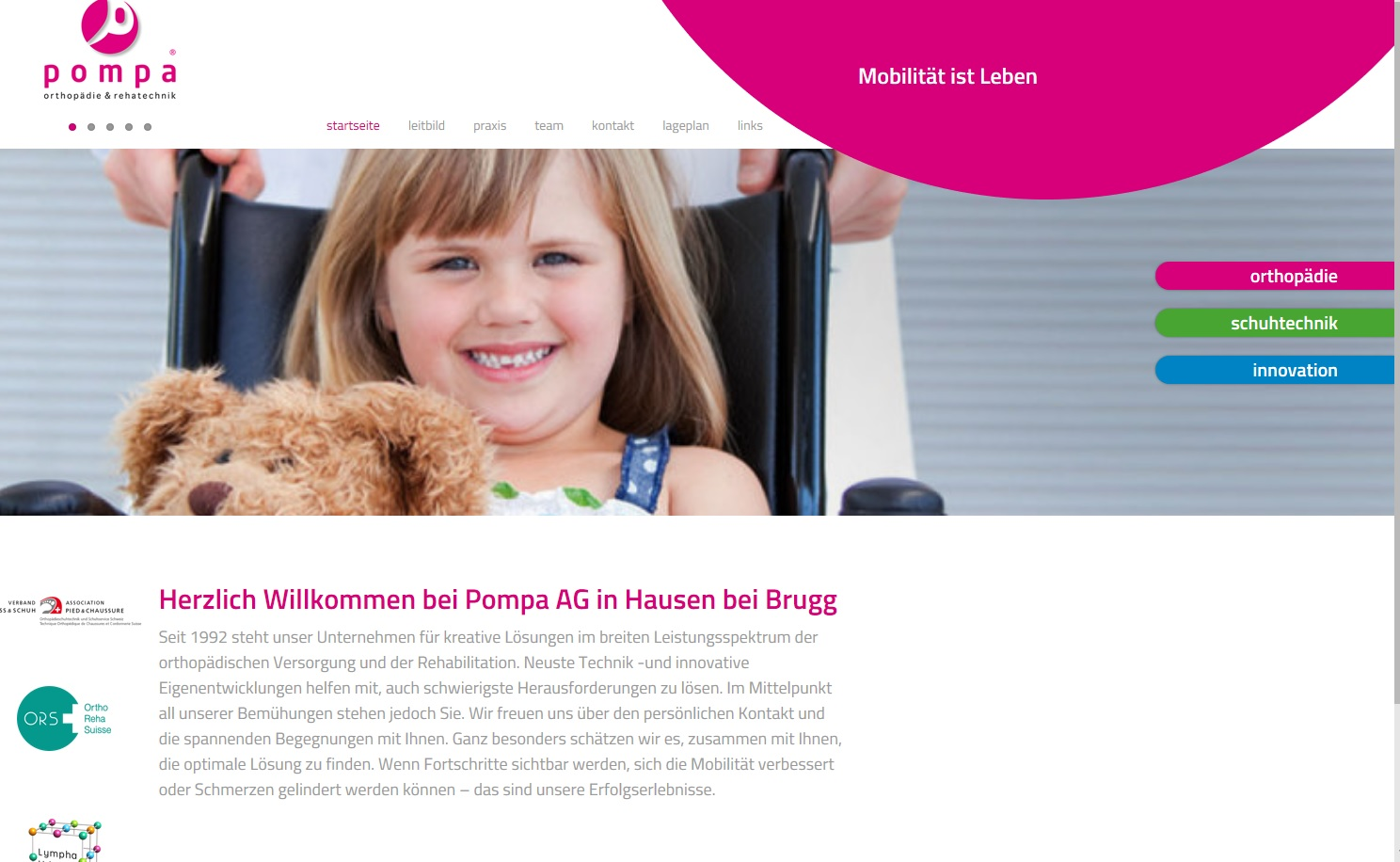 Homepage Pompa AG
