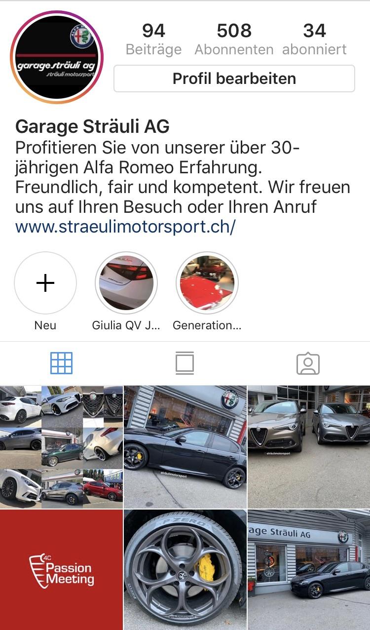 Instagram Account Sträulimotorsport